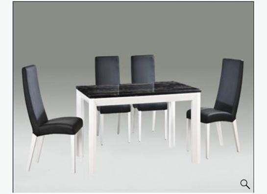 Столы из стекла, дерева, искусственного мрамора и стулья