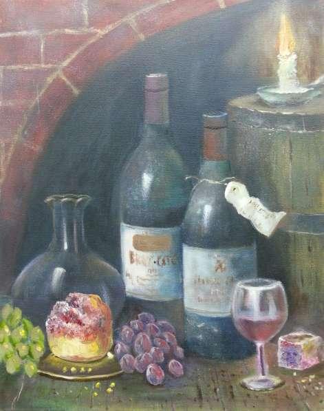 "Картина ""Натюрморт с бутылками"""