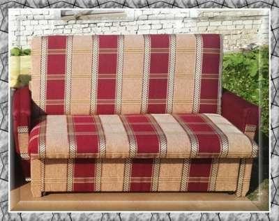 Диван-кровать в шенилле бордовом