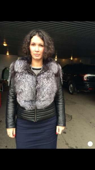 Куртка мех кожа
