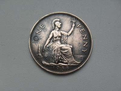 Монета 1 Пенни 1938 год Великобритания