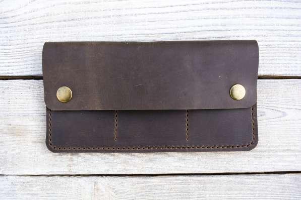 Кожаный кошелек. Клатч