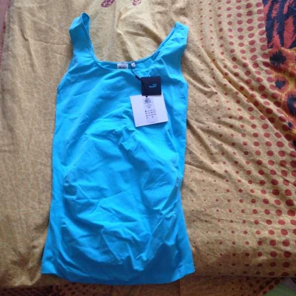 Майка для беременных голубая размер 48