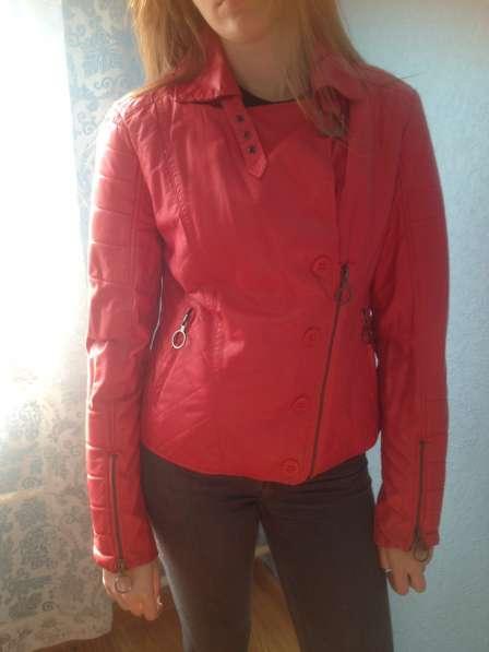 Куртка красная кожазаменитель
