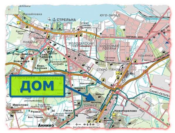 Участок, дом, Санкт-Петербург, Горелово, Торики в Санкт-Петербурге