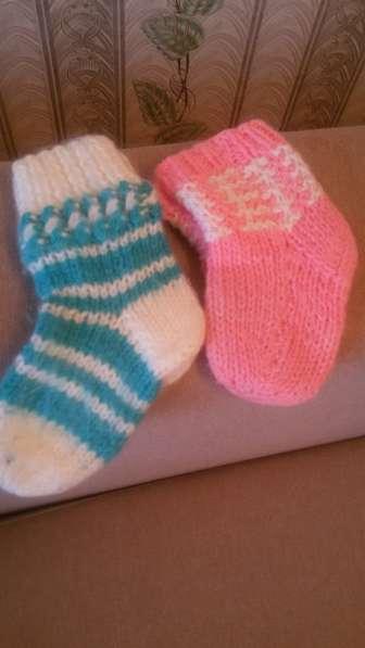 Вязаные носки. Новые