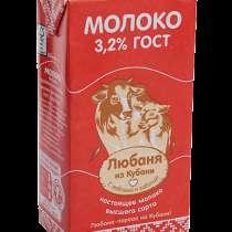 Молоко Любаня из Кубани, в Москве