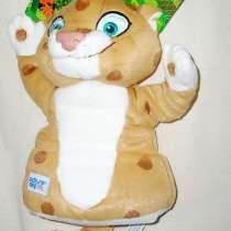 Леопард мягкий - символ Сочи 2014 , кукла-рукавица 25 см, в Москве