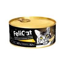 FeliCat Консервы мясные для кошек с уткой, 290 гр, в Санкт-Петербурге