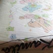 Бортики в кроватку нежно зеленого цвета Мишки 60-40см, б. у, в г.Брест