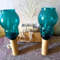 Настенный светильник с двумя зелеными плафонами, в Мурманске