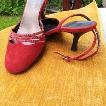 Босоножки замшевые, красные Angelo Dani, в Королёве