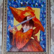 Картина Муза (дама в шляпе с флейтой)живопись масло мастихин, в Москве