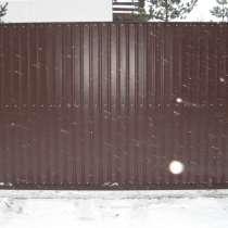 Ворота откатные 3,5*2,0 м, в Санкт-Петербурге