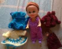 Маленькая кукла с приданным ручной работы, в Москве