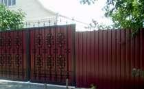 Заборы из профлиста, панельные, деревянные под ключ, в Екатеринбурге