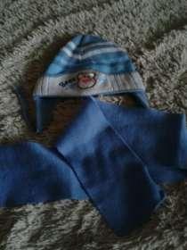 шапочка с шарфом  1-2года, в Чебоксарах
