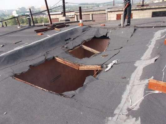Ликвидация проломов в крышах гаражей