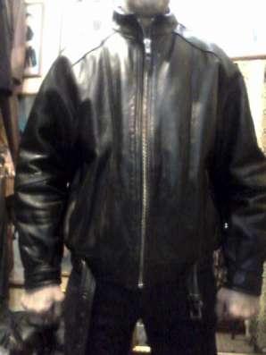 Продаю куртку кожаную мужскую, б/у, в хорошем состоянии