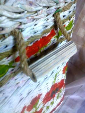 Плетеный короб для хранения вещей