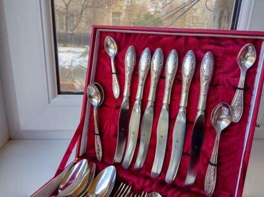 Мельхиоровый столовый набор Пламя серебрение 43 прибора СССР в г. Днепропетровск Фото 3