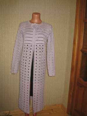Кардиган-пальто выполненный крючком в Калуге Фото 2