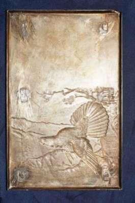 Серебряная накладка «Глухарь» из наркомовского набора. СССР, 1930-е гг. в Санкт-Петербурге Фото 5