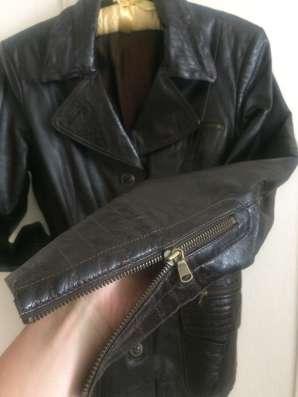 Кожаный жакет пиджак