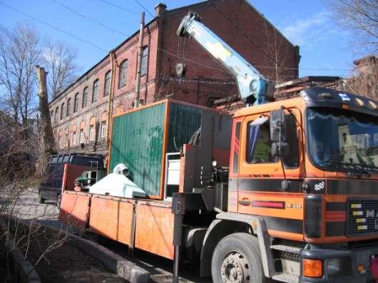 Перевозка строительного оборудования манипулятором Спб