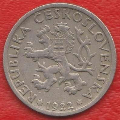 Чехословакия 1 крона 1922 г. в Орле Фото 1