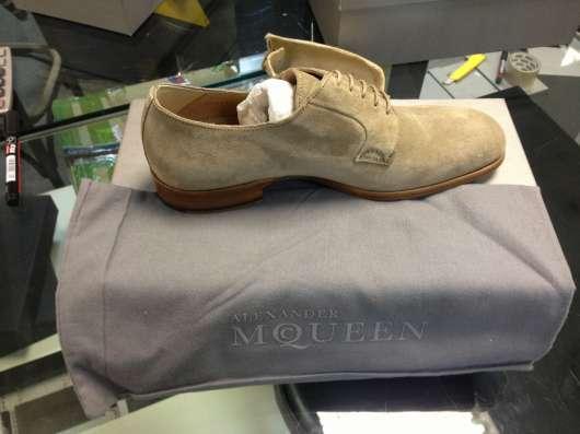 Ботинки замшевые Alexander McQueen в Москве Фото 1