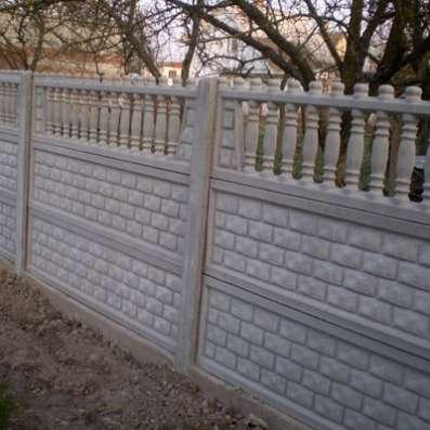 Декоративные бетонные заборы в Великих Луках Фото 2