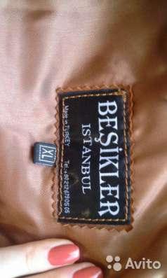 Кожаная куртка рыжая  XL (44-46) BESIKLER ISTANBUL Made in Turkey