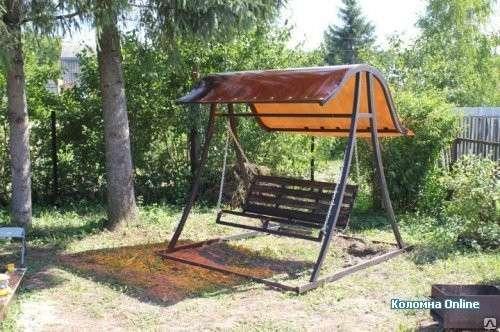 Садовые металлические качели