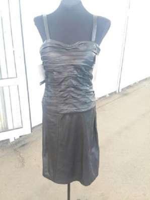 Кожаное платье, р-р 40