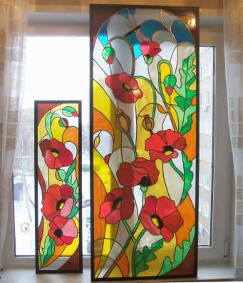Витражи на стекле и зеркалах в Ижевске Фото 5