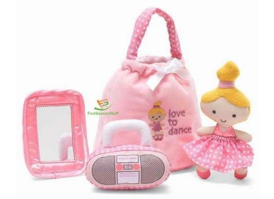 Розовые мягкие игрушки для девочки