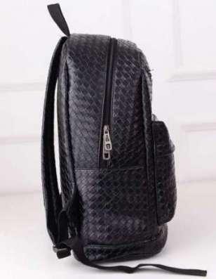 Рюкзак из черного кожзама (искусственная кожа, PU-кожа) в г. Запорожье Фото 1