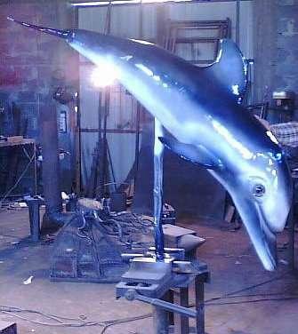 """Скульптура""""Дельфин"""""""