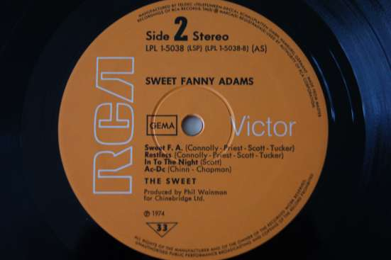 SWEET FANNY ADAMS-1974 Made In Germany