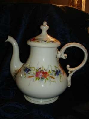 Старинный чайник,ручная роспись,СЕВР,сер