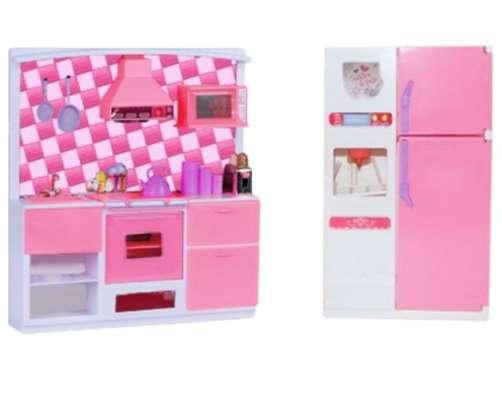 Кухня кукольная, набор мебели со светом и звуком для Барби в Москве Фото 1