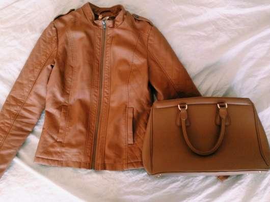 Кожаная куртка + сумка