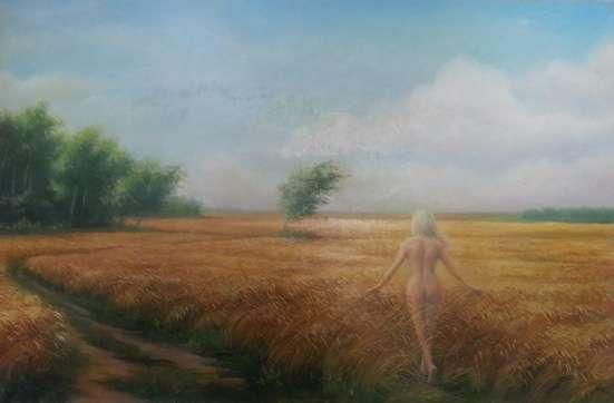 "Картина ""Девушка в поле"""