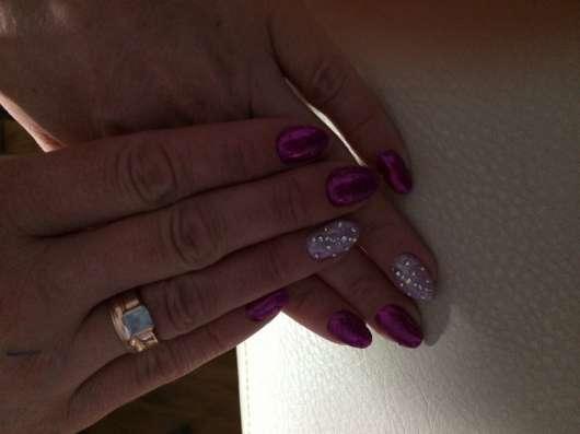 Наращивание ногтей, покрытие гель-лак