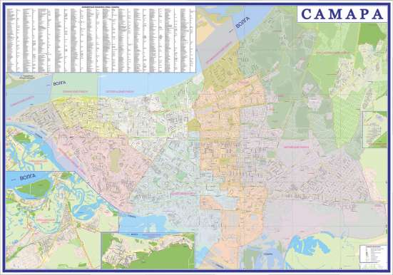 Водные маршруты Самарской области. Карта складная в г. Самара Фото 1