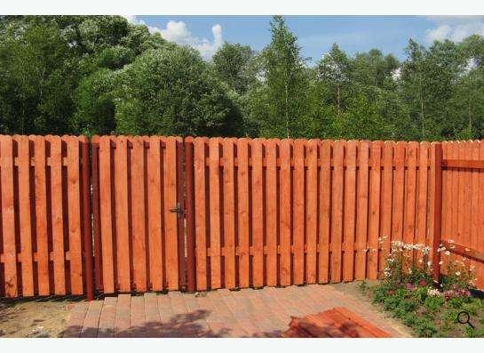 Деревянный забор в Новосибирске Фото 2
