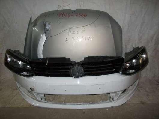 Передний бампер в сборе на Volkswagen Polo