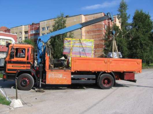 Перевозки манипулятором Спб и ЛО. Грузоперевозки, бортовой грузовик с краном Спб