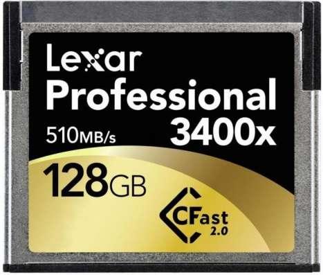 Lexar Professional 3400x CFast 2.0 128GB
